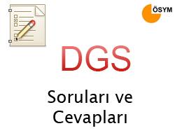 DGS Soruları ve Cevapları ÖSYM - 17 Temmuz 2011