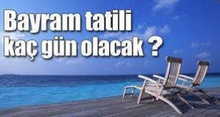 Bayram Tatili Kaç Gün Olacak(9 Günlük Bayram Tatil)2011