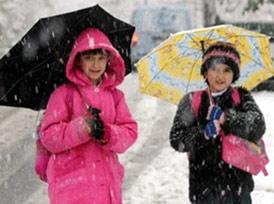Kar yağışı nedeniyle 7 ilde okullar tatil
