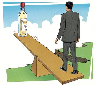 içkinin zarar ile ilgili görsel sonucu