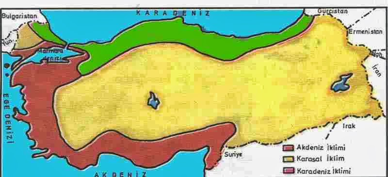 türkiye iklim haritası ile ilgili görsel sonucu